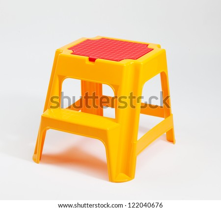 Children plastic stairs - stock photo
