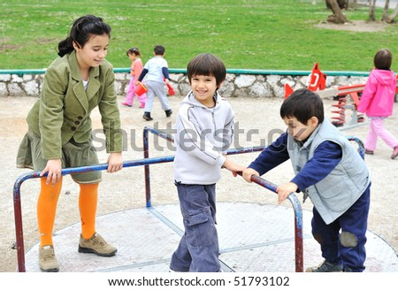 Children playing - stock photo
