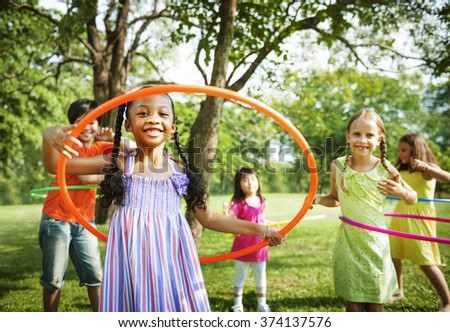 Children Playing Friends Happiness Togetherness Concept - stock photo
