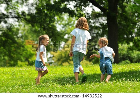 Children playing outdoors in the park
