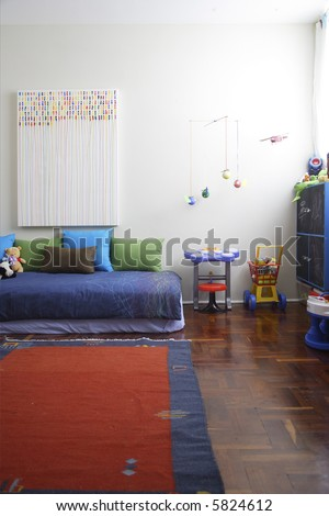 children room detail in a modern apartment in Mexico - stock photo
