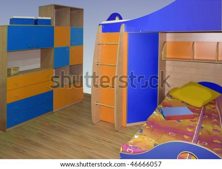 children room interior - stock photo