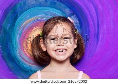 children's art - stock photo