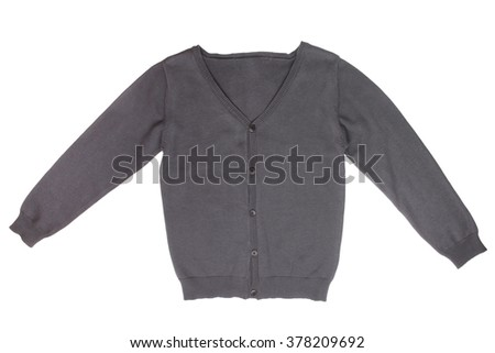 Children's cardigan isolated on white background - stock photo