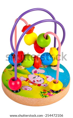 Children's developing toy  isolated on white background - stock photo