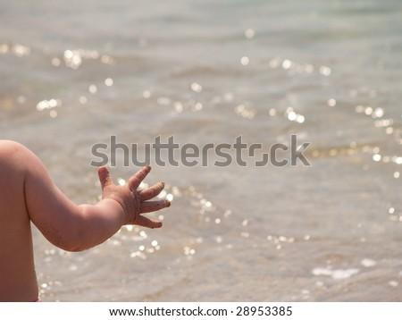 children's hand - stock photo
