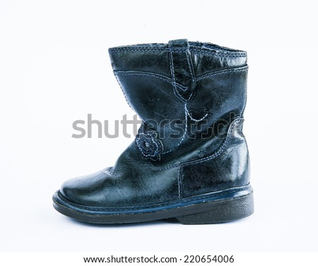 Children's leather boots autumn
