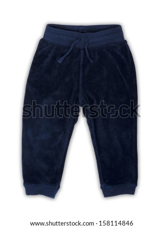 Children's pants isolated on a white background. - stock photo