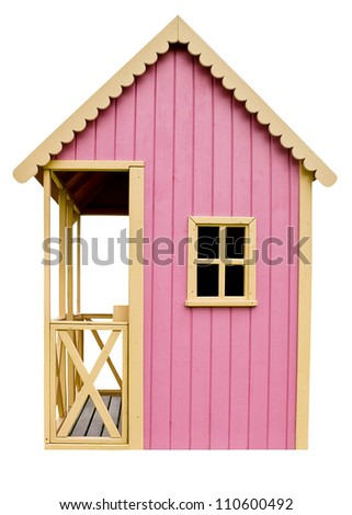 Children's play house on a white background - stock photo