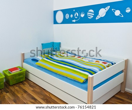 Children's Playroom with bed - stock photo