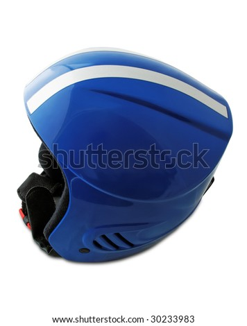 children's sport helmet isolated with clipping path
