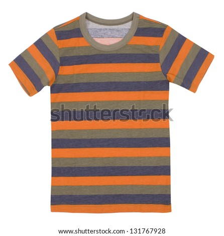 Children's t-shirt isolated on white background.