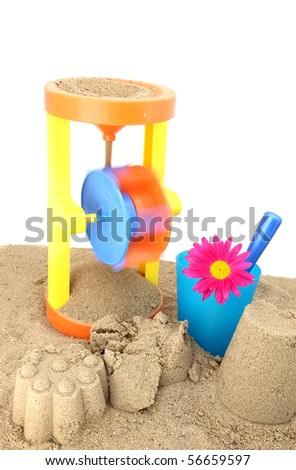 Children's toys for the game in the sand