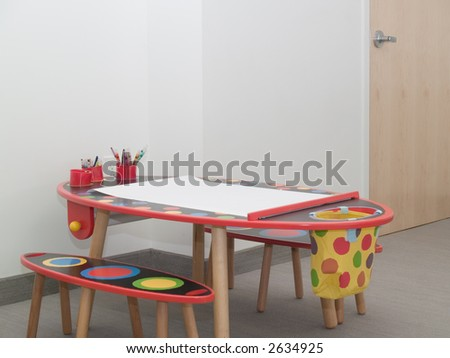 Children's waiting area in a medical office. - stock photo