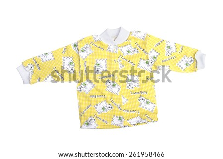 children's wear on the white background - stock photo