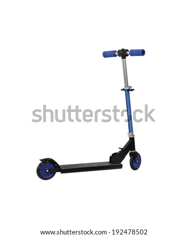 Children scooter isolated on white - stock photo