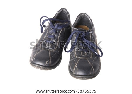 Children shoes isolated on white background - stock photo