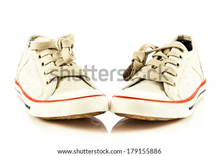 children shoes isolated  on white background. freestyle comfort colorful - stock photo