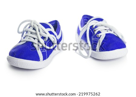 children shoes isolated on white background. freestyle comfort colorful