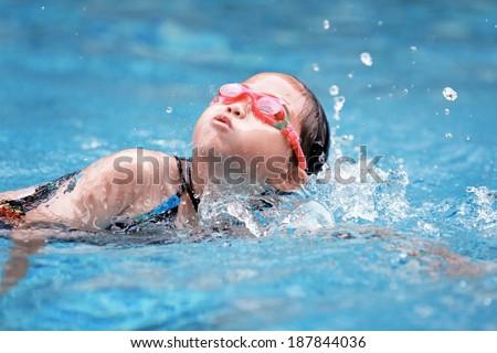 children swimming pool - stock photo
