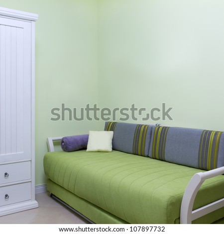 Childrens living room interior - stock photo