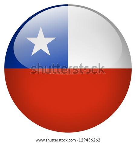 Chile flag button - stock photo