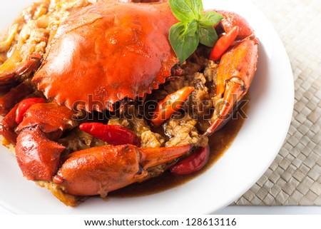 chili crab asia cuisine - stock photo