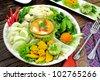 Chili paste mixed with crabmeat and duck yolk (nam-prik-khai-pu) - stock photo