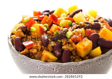 Chili sin carne - stock photo