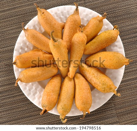 Chilli Pakora, An extremely delicious and mouth watering snack of Pakistani & Indian Peoples - stock photo