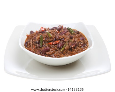 Chilli with carne - stock photo