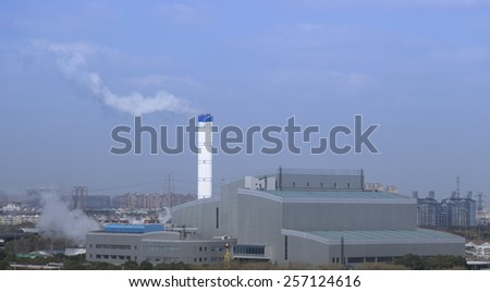 chimney located at Shanghai - stock photo