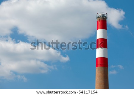 Chimney of an industrial plant