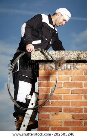 Chimney Sweep Man Work Uniform Cleaning Stock Photo Edit