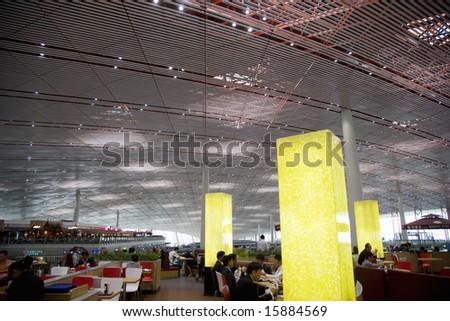 China. Beijing. The International Airport. - stock photo