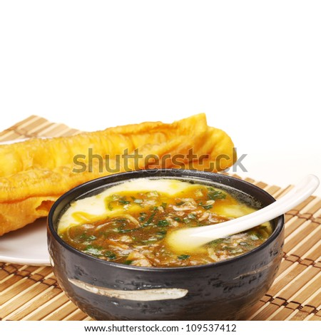 China delicious food-- Chinese Fritters and tofu - stock photo