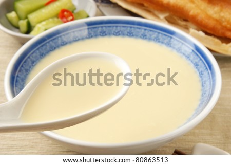 China delicious food-- soy milk - stock photo