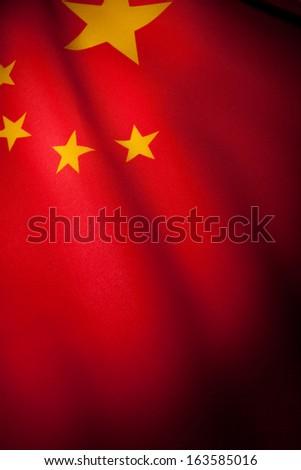 China Flag for background - stock photo