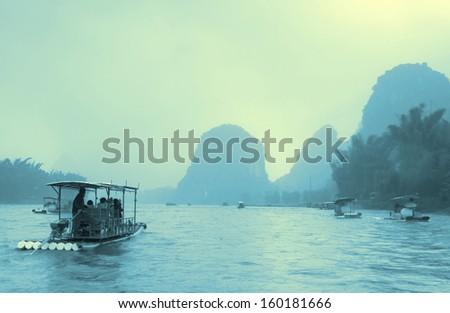 China Guilin Scenery - stock photo
