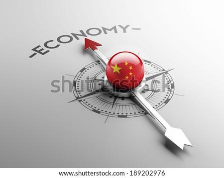 China High Resolution Economy Concept - stock photo