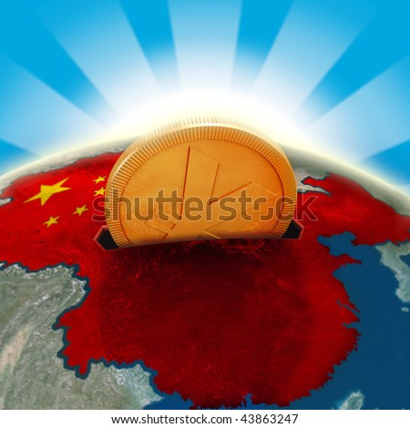 China moneybox - stock photo