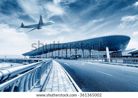 China Nanchang Airport T2 location - stock photo