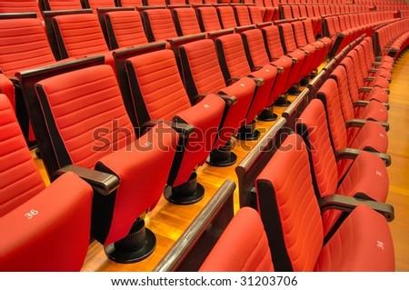 China National Grand Theater interior seating (Beijing) - stock photo