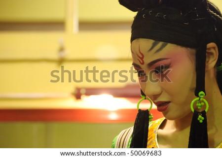 china opera Painting masks - stock photo