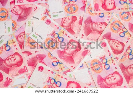 China's currency. Chinese banknotes. note backgroung - stock photo