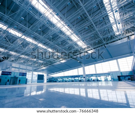 China, Shanghai Pudong Airport Interior - stock photo