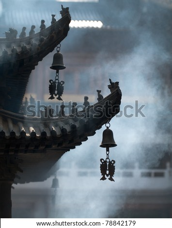 China, Shanghaj, the Temple of a remembrance deceased, 2011. - stock photo