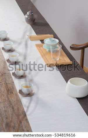 China tea in the porcelain cup