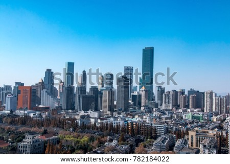 China urban cityscape