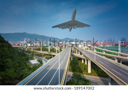 China viaduct in Shenzhen - stock photo